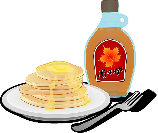 Bananen Pancake, Rezept, Eierkuchen mit Ahornsirup